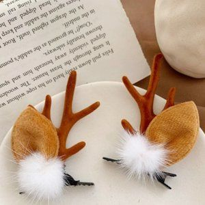 NEW Christmas Reindeer Antler Antlers Hair Clips